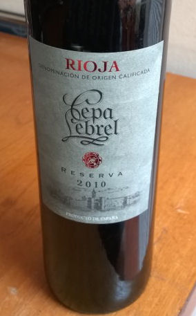 Cepa Lebrel Rioja Reserva 2010 Wine Reviews By Ivorfan